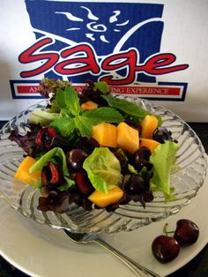 Minted Spring Mix, Dark Sweet Cherries & Cantaloupe Salad by Sage Fruit Cantaloupe Salad, Cantaloupe Recipes, Cherry Recipes, Fruit Recipes, Radish Recipes, Sweets Recipes, Easter Recipes, Desserts, Recipe For 6