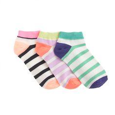 J.Crew - Girls' ankle socks three-pack