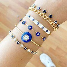 Gold Bangle Bracelet, Evil Eye Bracelet, Bangle Set, Gold Bangles, Greek Evil Eye, Evil Eye Jewelry, Eye Protection, Steel Material, Adjustable Bracelet