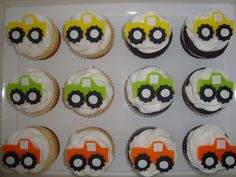 Edible+Fondant+Monster+Trucks+Cupcake+and+by+CakeMakesAPartyShop,+$13.99