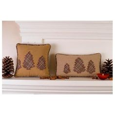 "Share your own customer images  Evergreen 10"" Square Decorative Holiday Christmas Pillow  by Victorian Heart Co., Inc.  Be the first to review this item 