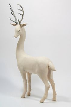 White deer sculpture