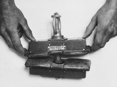"Demonstation of an instrument used to crush fingers in the Breendonck concentration camp. The original caption reads, ""The above photograph shows an instrument which the Germans used as a finger-press. World History, World War Ii, Lest We Forget, Medical History, Korean War, Interesting History, Wwii, Shit Happens, Old Photos"