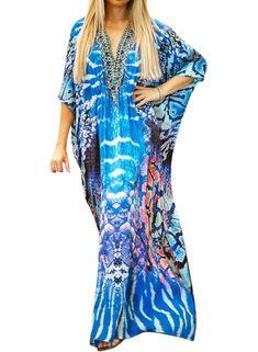 Kaftan \u2022 beachwear \u2022 printed kaftan \u2022 floral printed kaftan \u2022 holiday wear \u2022 beach coverup \u2022 swim coverup \u2022 resortwear \u2022 short kaftan