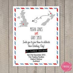 Travel/Destination Wedding Invitation & by WeddingPlanningShop