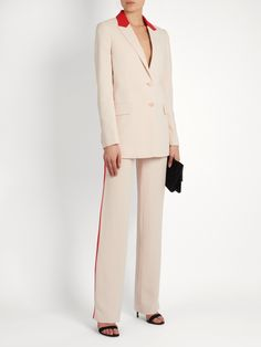 Side-stripe high-rise wide-leg trousers  | Givenchy | MATCHESFASHION.COM UK
