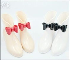 butterfly knot Jelly shoes short rain boots wellies fashion women rain boots