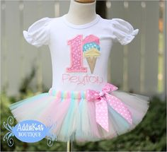 PERSONALIZED Pastel Ice Cream Cone Birthday Number by AddieKatShop, $54.50