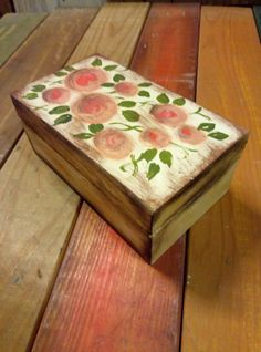 small wooden box handpainting Small Wooden Boxes, Jewerly, Decorative Boxes, Home Decor, Jewlery, Decoration Home, Room Decor, Schmuck, Jewelry