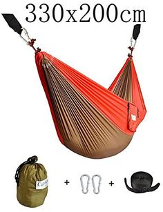 Double Nest Parachute Camping Hammock with Tree Straps by Cutequeen For Travel Camping,Backpacking,Kayaking Best Camping Hammock, Camping Gear, Ultralight Backpacking Gear, Gazebo Pergola, Patio Furniture Covers, Hammock Stand, Kayaking, Fabric, Nest