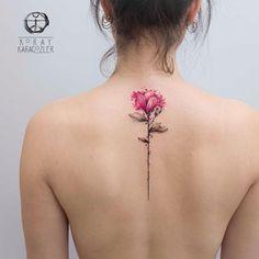 Flor nas costas