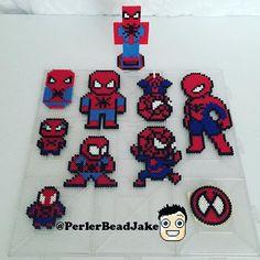 Spiderman' s perler beads by perlerbeadjake Hama Beads Design, Diy Perler Beads, Hama Beads Patterns, Pearler Beads, Beading Patterns, Amazing Spiderman, Spider Man, Mini Iron, Finding A Hobby