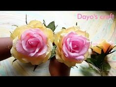 ABC TV | How To Make Rose Paper Flower From Crepe Paper - Craft Tutorial - YouTube