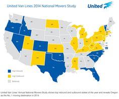 United Van Lines moving map