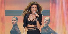 Eleni Foureira from Cyprus rocks Eurovision She has a fierce sense of jewellery style; she really emulates Beyonce with oversized hoop earrings and multiple pendant necklaces. Oversized Hoop Earrings, Divorce For Women, Celine Dion, Jewelry Stand, Single Women, Going Crazy, Beyonce, Dating, Product Launch