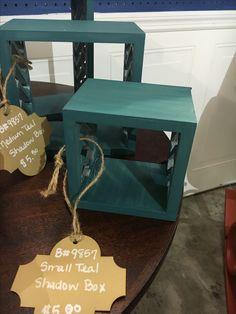 Small Teal Shadow Box - $5.00