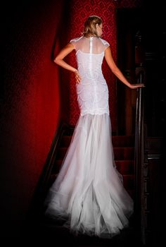Our beautiful SOPHIA gown - so breathtaking from behind.
