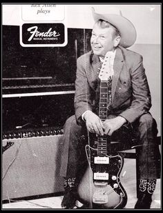 Rex Allen promotes Fender