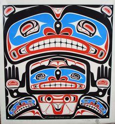 A Kwakiutl Family Portrait, limited edition print on paper. #nativeamericanart #aboriginalart #kwakiutl #haida Source: www.davidneel.com