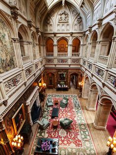 Saloon and Gallery in Downton Abbey Highclere Castle  featured on Between Naps on the Porch