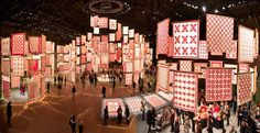 A New York woman, Joanna S. Rose, collected only red and white quilts for 60 years. For her 80th birthday, her husband arranged for the American Folk Museum to rent out the Park Avenue Armory and display them so she could see them all at once. They opened this to the public March 25-30, 2011.