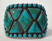 I've always loved turquoise and American Indian jewelry--Large Navajo Cuff