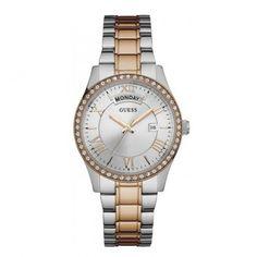 W0764L4 Γυναικείο κομψό ρολόι GUESS με ασημί καντράν, πέτρες και ατσάλινο-ροζ χρυσό μπρασελέ | Γυναικεία ρολόγια GUESS ΤΣΑΛΔΑΡΗΣ στο Χαλάνδρι #Guess #ροζ #ατσαλι #μπρασελε #ρολοι