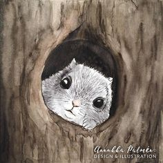 A flying squirrel watercolor - Annukka Palmén - Squirrel Illustration, Forest Illustration, Squirrel Art, Flying Squirrel, Postcard Paper, Woodland Art, Watercolor Paintings, Watercolors, Number Two