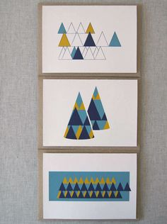 Karte Design Fabrik recently launched its first collection entitled Wooded Hills, a set of Christmas cards inspired by Scandinavian design.