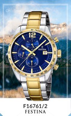 La montre F16761/2 de la marque Festina pour Homme est en réduction sur Chic-Time. Issue de la collection Sport et de couleur argent et doré, ce modèle est le mélange parfais entre une montre design et sportive