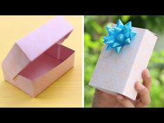 How to make a paper gift box with lid - Easy! - YouTube