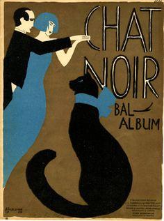 Chat noir, 1924 (ill.: Bogelund); ref. 15112