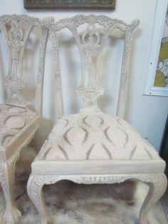 A pair of  wood carved ornate vintage by redesignrestoration, $400.00
