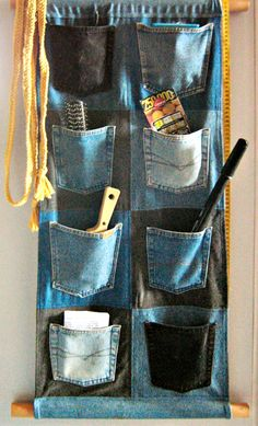 Denim Organizer - 8 Unique Ways To Recycle Your Old Pair Of Jeans