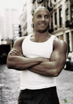 Vin Diesel or better yet Dominic Toretto Vin Diesel, Diesel Fuel, Michelle Rodriguez, Dominic Toretto, Actrices Sexy, Hommes Sexy, Raining Men, Paul Walker, Dwayne Johnson