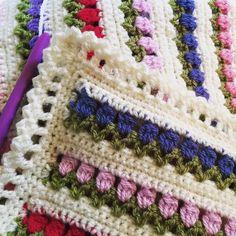 Border of crochet tulip blanket