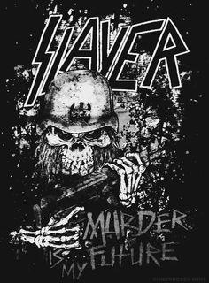 Slayer ~ Murder is my Future Jeff Hanneman, Tom Araya, Thrash Metal, Extreme Metal, Power Metal, Hard Rock, Punk Art, Heavy Metal Bands, Band Photos