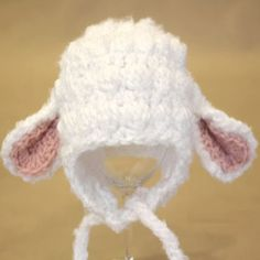 FOR YOUR PRECIOUS LITTLE LAMB! ADORABLE Crochet Lamb Hat FREE PDF Pattern Download!