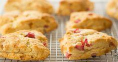 Strawberry Rhubarb Scones ! Local Baking ! FRESH LOCAL CHEMICAL FREE PRODUCE !