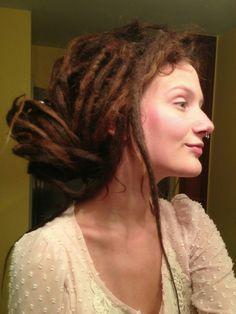 Dreadlocks Girl, Locs, Dreadlock Hairstyles, Funky Hairstyles, White Girl Dreads, Partial Dreads, Beautiful Dreadlocks, Hippie Hair, Dreads Styles