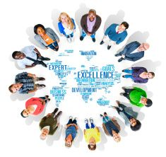 Excellence Expertise Perfection Global Growth Concept stock photo