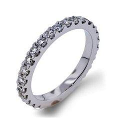 Arthurs Collection Diamond Prong Set White Gold Womens Wedding bands DR4426B-100 #ArthursJewelers