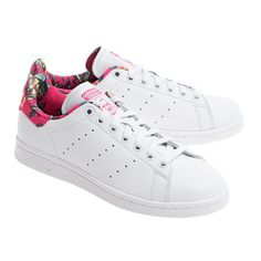 ADIDAS ORIGINALS  Stan Smith White Ray Pink Flache Leder-Sneakers - Sneakers