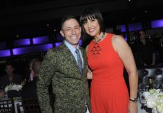 Benjamin Moore's 2014 HUE Awards: Home furnishings designer Jonathan Adler congratulates fashion designer Trina Turk at the 2014 Benjamin Moore HUE Awards on Monday, Sept. 29, 2014 at the Highline Ballroom in New York. (Photo by Diane Bondareff/Invision for Benjamin Moore/AP Images)