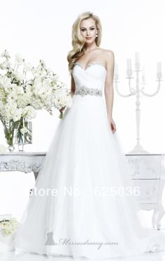 New Elegant Sweetheart Wedding Dresses A-line Beaded Organza Bridal Gown*Custom H53 US $169.00