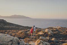 Engagement Photographer // Sunset in Mykonos