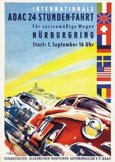 Vintage Racing, Vintage Ads, Vintage Posters, Racing Events, Old Race Cars, Garage Art, Motorcycle Art, Car Posters, Automotive Art