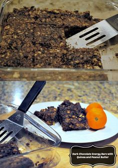 These healthy homemade energy bars beat store purchased versions with massive amounts of processed sugars and preservatives. Dark Chocolate Energy Bars with Quinoa and Peanut Butter