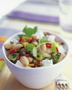 Warm Bean and Feta Salad