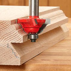 reduce wear on your bit, save time, and product less dust by tracing the profile on the wood, then cutting away the bulk of the extra wood with a straight cut.